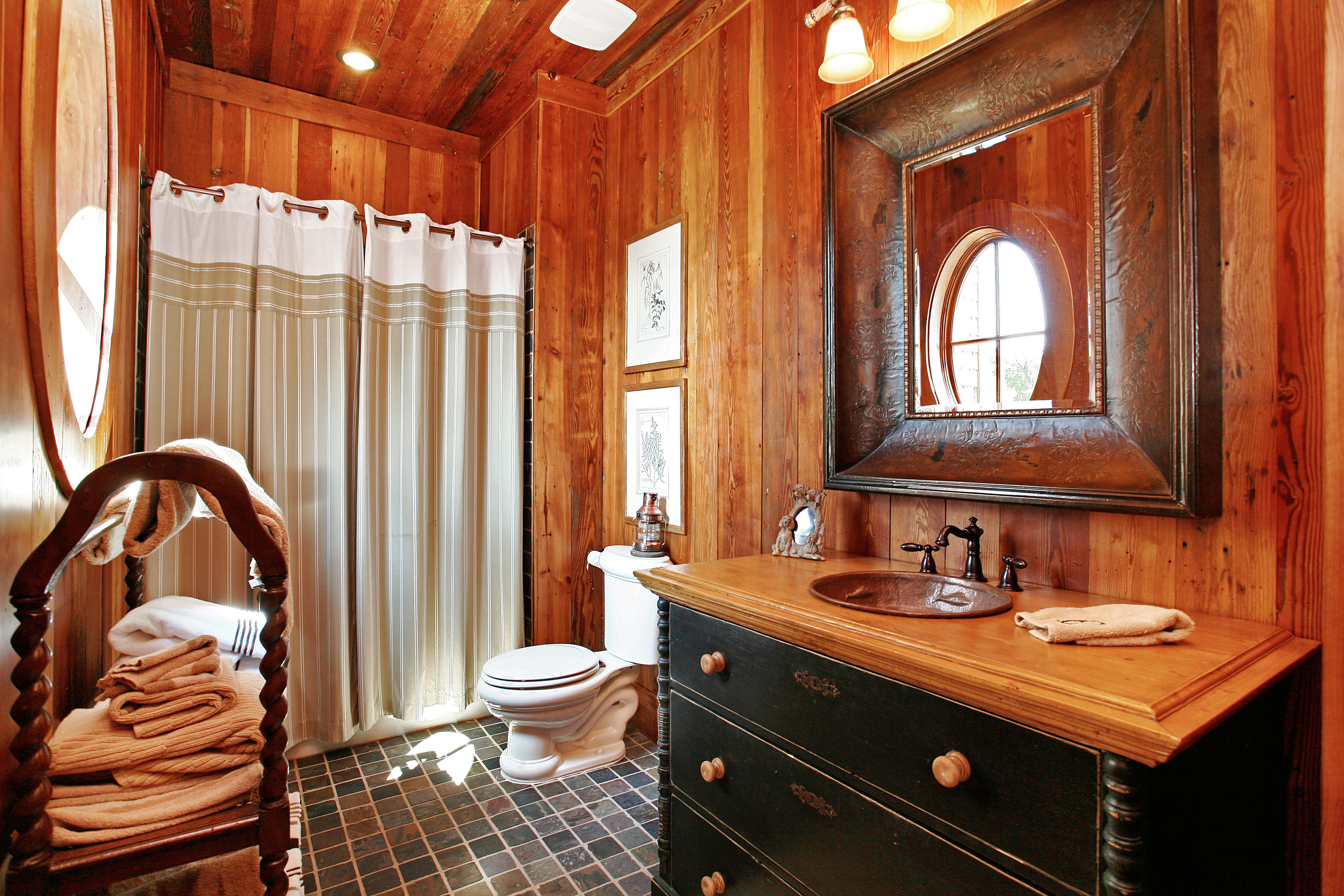 Nice Bathroom Setup : Stunning spaces charming rustic lakefront home the vht