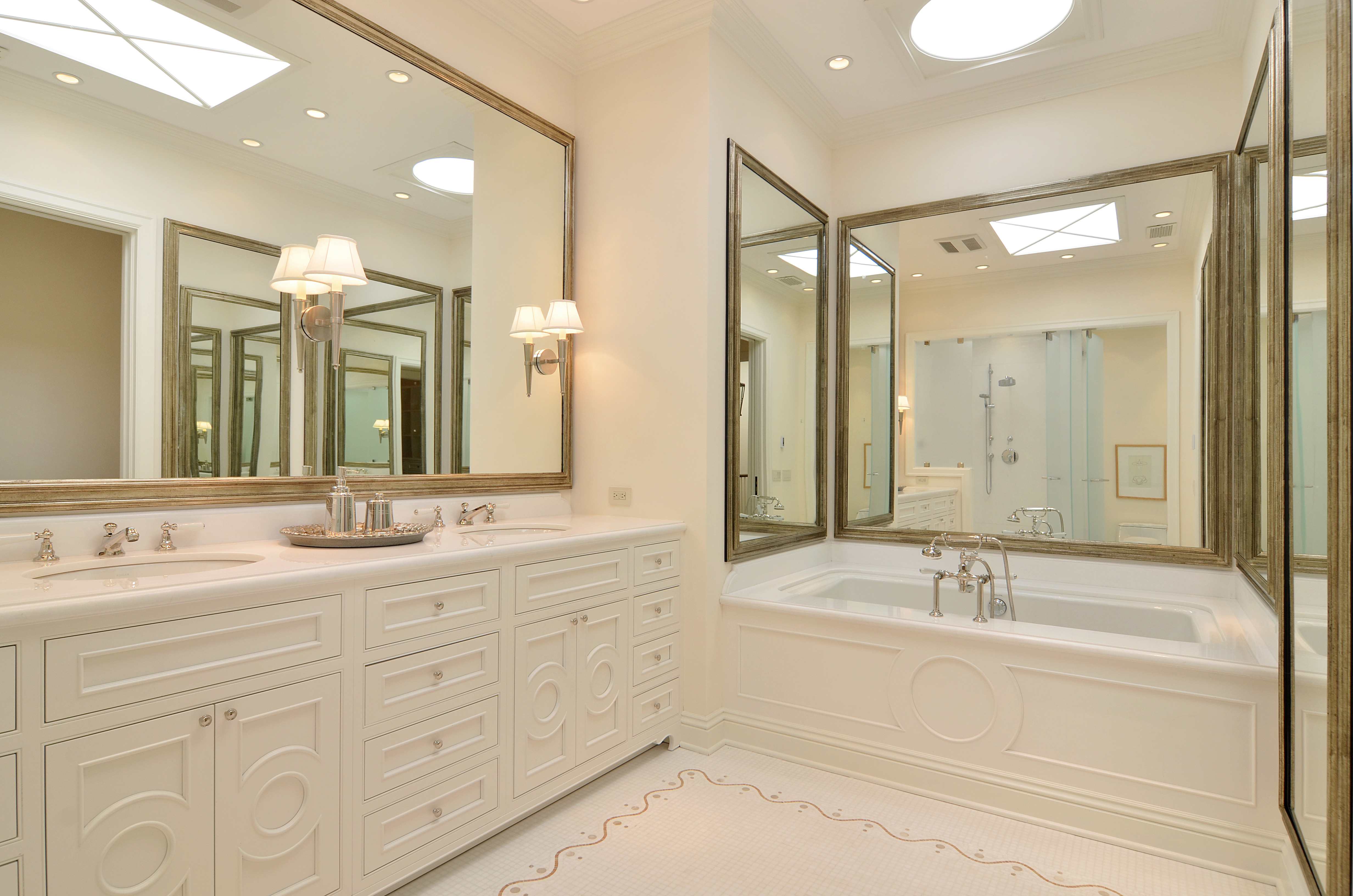 Making white look so right the vht studios 39 blog for Master bathroom white